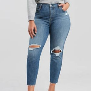 Levi's Wedgie Fit Jeans High Rise button fly New